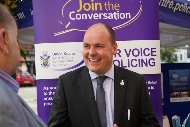 Police and crime commissioner David Keane