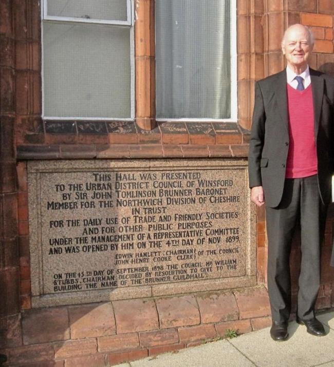 Sir Hugo Brunner, whose great-grandfather Sir John Brunner bestowed the Brunner Guildhall came to Winsford last year to find out how the council is planning to restore the building