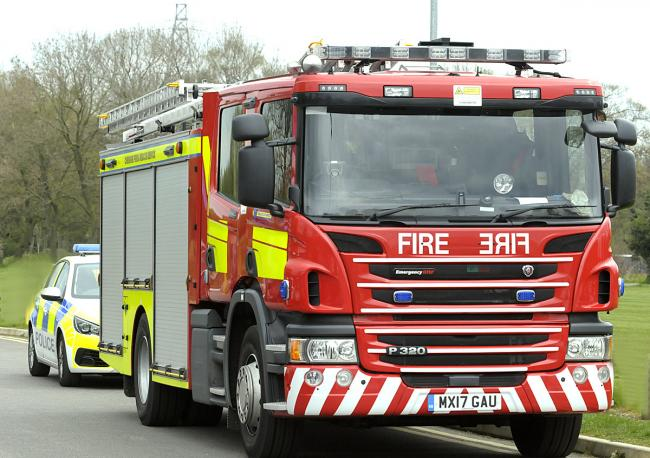 Firefighters were called to Road Four on Winsford Industrial Estate yesterday afternoon