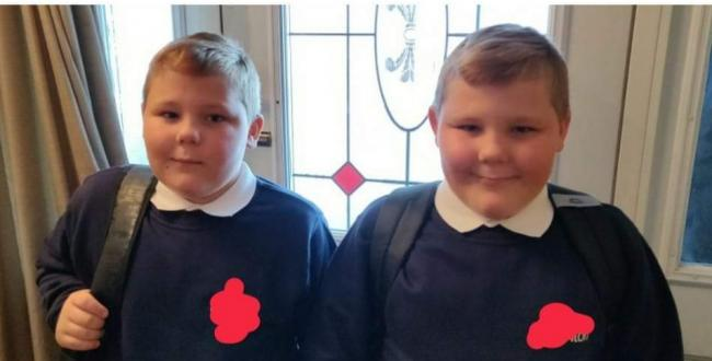 Twins starting year 5, Kierans first day in year 7!