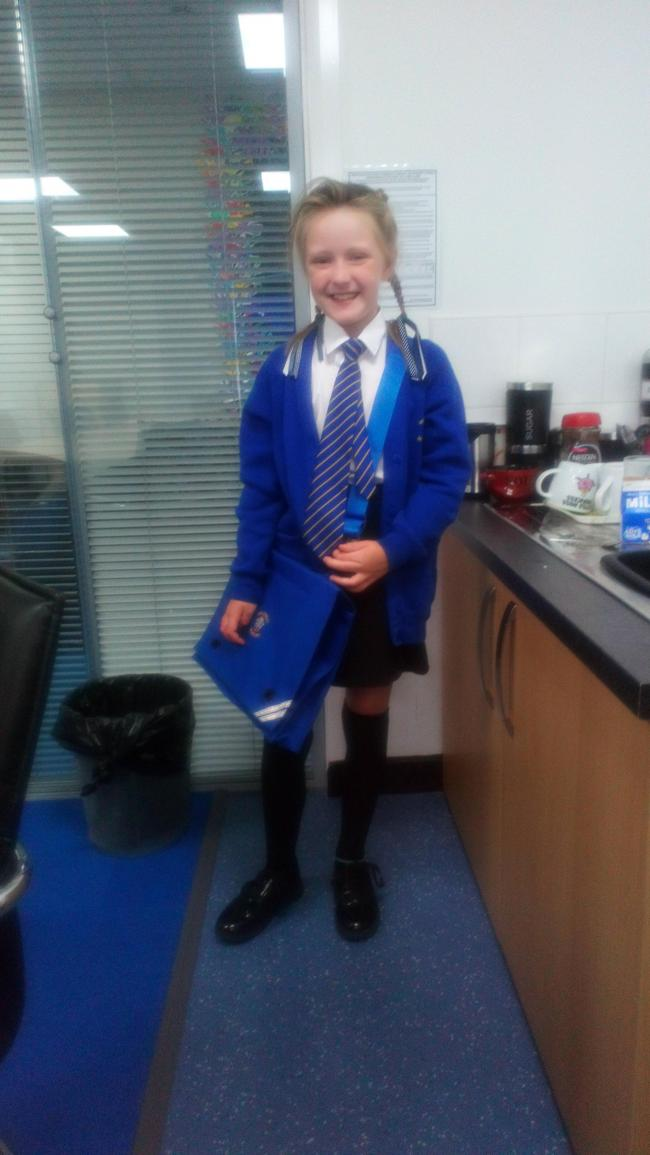 High Street school 1st day at her new school year 4 xx
