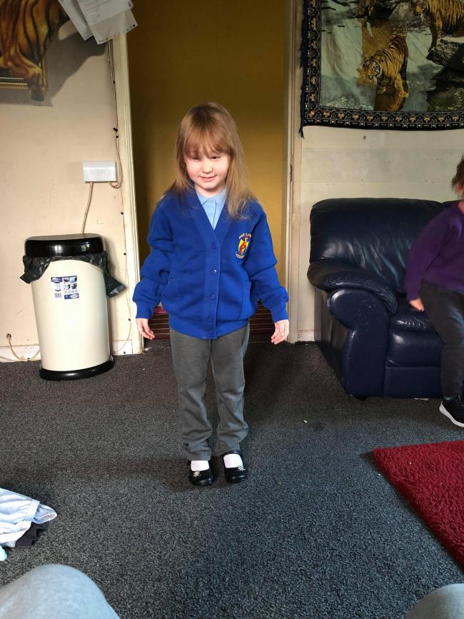 Lexi-may Kerr first day at over St. John's cofe primary school