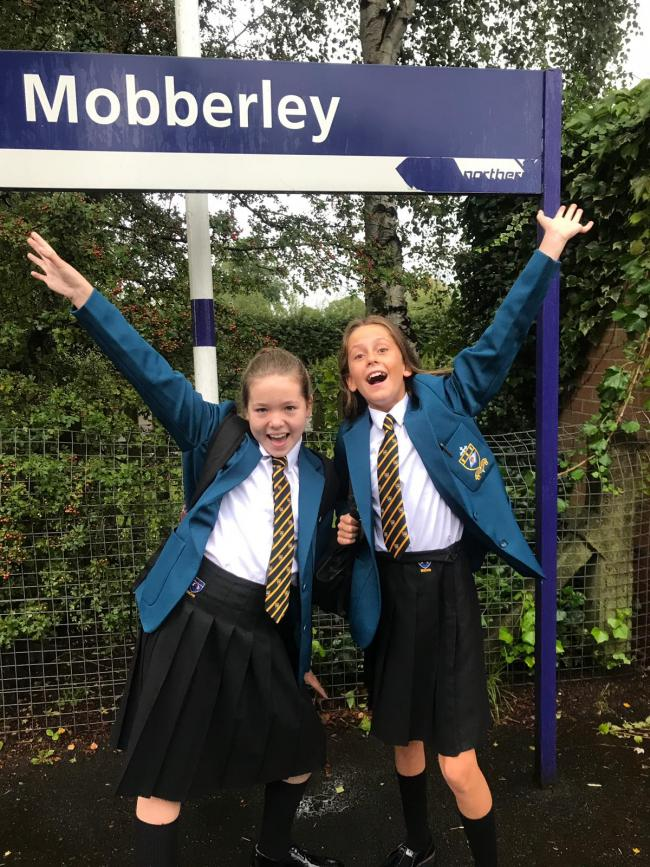 Molly & Issy first day at St Nicks