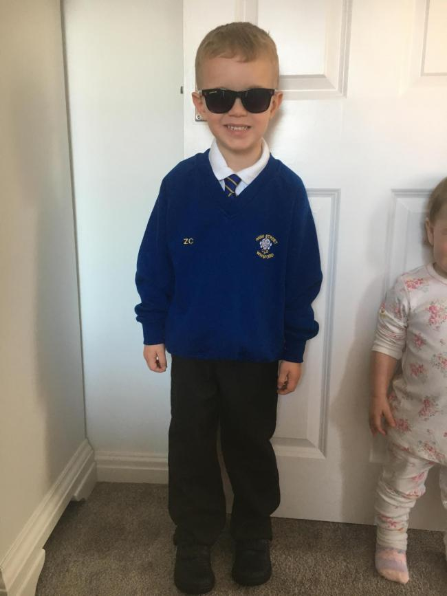 Zack's first day in Reception.