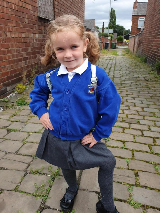 Poppys first day in reception