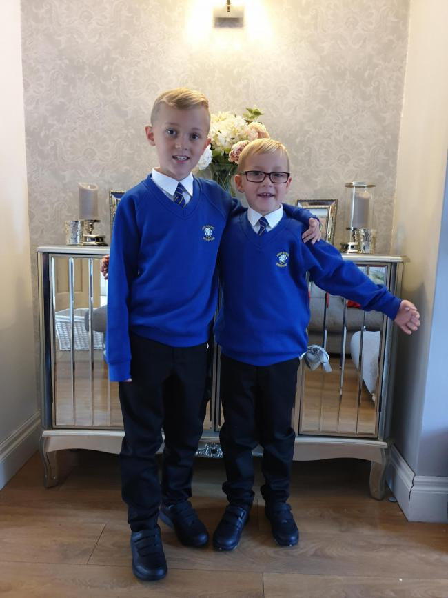 Grandsons Jenson and Evan Lee Year 3 and Year 2 at High Street C.P. School