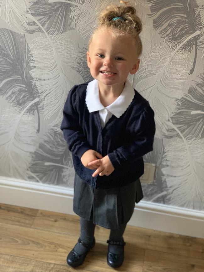 Harper Williamson First time at Pre school  Barnton community primary school and nursery