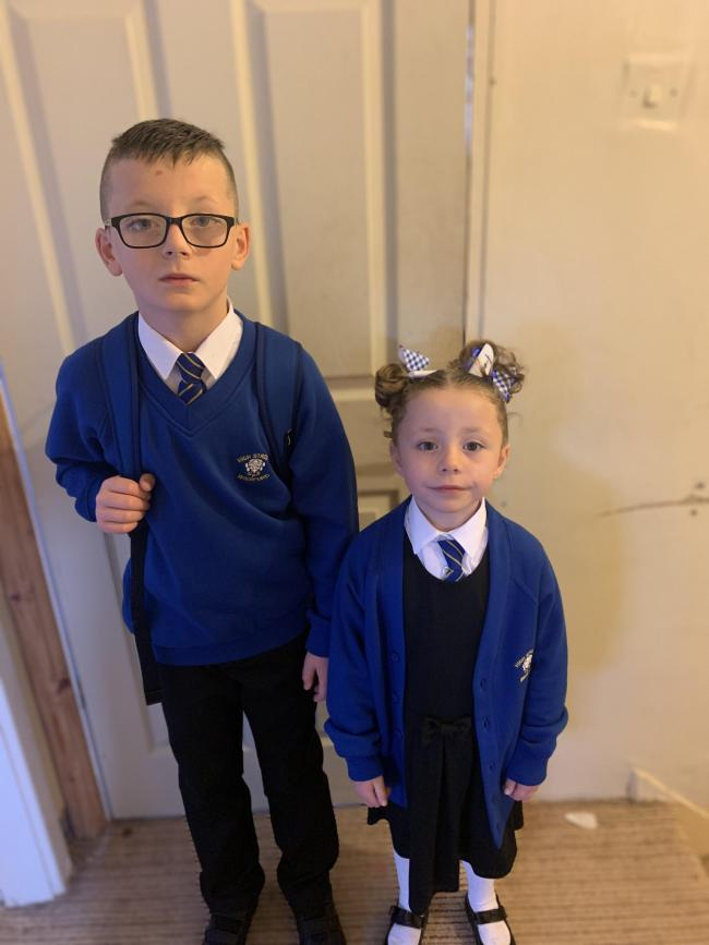 Ready for year 1 and year 5. So proud of them both xx