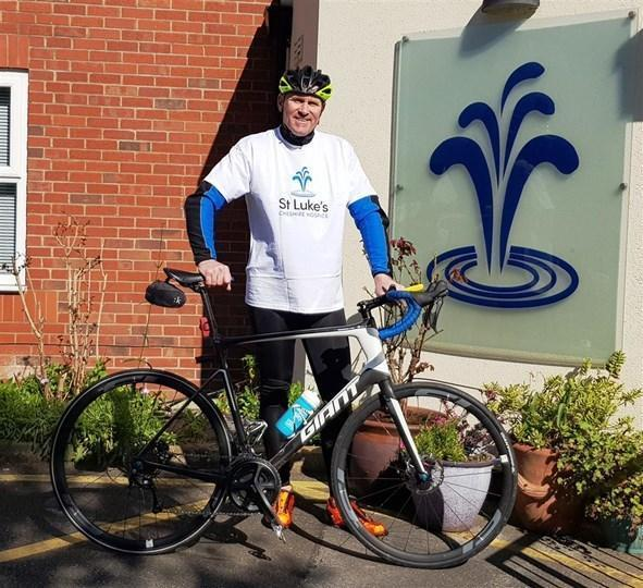 David Evans, from Winsford, is embarking on a 200 mile cycle challenge in one day to thank St Luke's Hospice for looking after his mum.