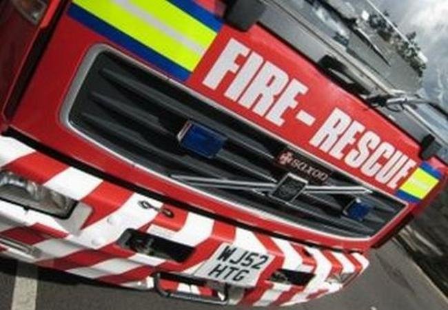 Firefighters tackled a quad bike fire on New Road in Winsford