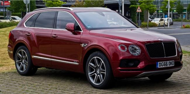A diesel version of the Bentley Bentayga. Both images: M 93