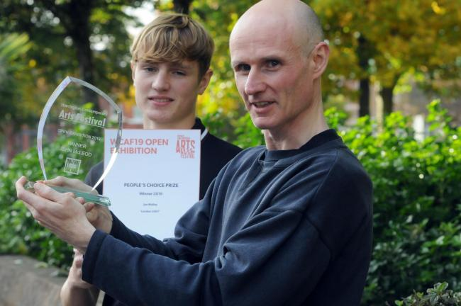 Warrington Contemporary Arts Fest competition winners   John McLeod and Joe Malley.