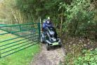 Barry Andrews, a member of The Disabled Ramblers, puts the new path to the test