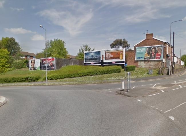 The five billboards at the heart of the row. Image: Google Maps