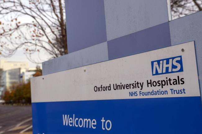 A sign for Oxford University Hospital NHS Foundation Trust