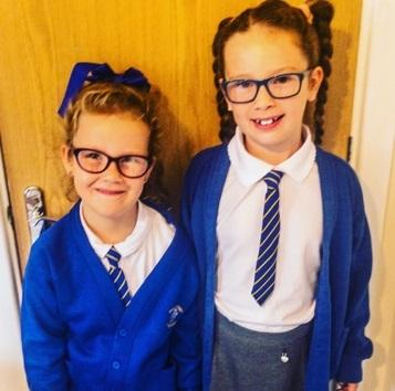 Matilda and Poppie Wardle, pupils at High Street Primary School, have been praised for picking up litter every morning at Winsford Town Park