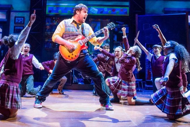 A scene from School Of Rock at the New London Theatre