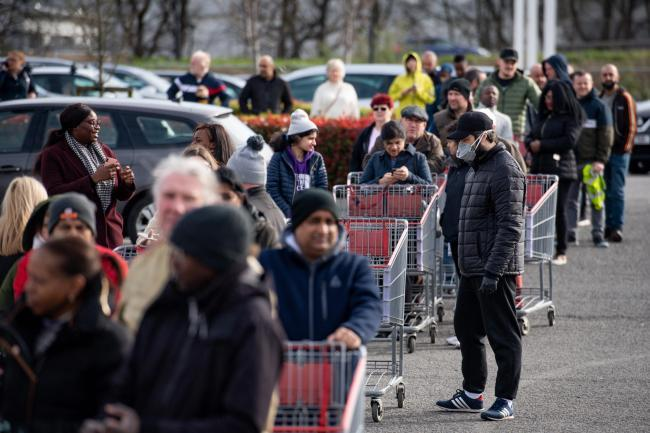 Shoppers lining up. Picture: Press Association