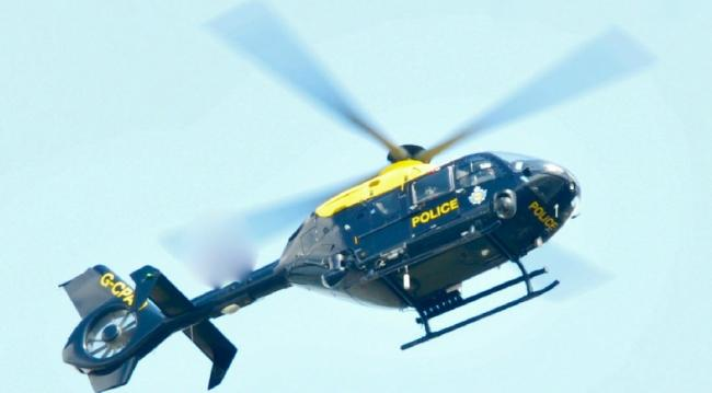 The Cheshire Police helicopter helped to find a missing man from Winsford