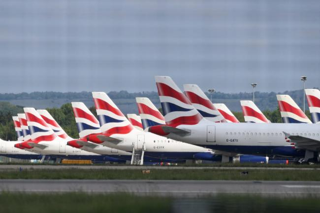 British Airways planes grounded due to the coronavirus outbreak (Gareth Fuller/PA)