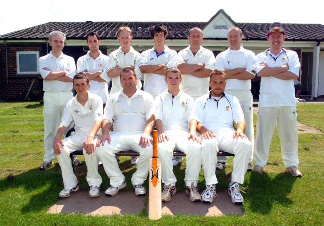 Winsford Cricket Club first XI in 2007. James Tierney and Mark Skellon are the only players from this group still with the club