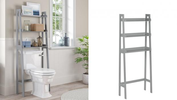 Winsford Guardian: Over-the-toilet units provide a lot more storage space. Credit: Wayfair