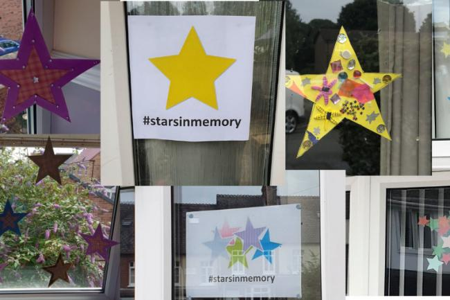 A collage of stars as part of the stars in memory campaign