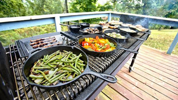 Winsford Guardian: A good cast iron (or four) can help you cook up vegetable and more on the BBQ. Credit: Amazon / Lodge