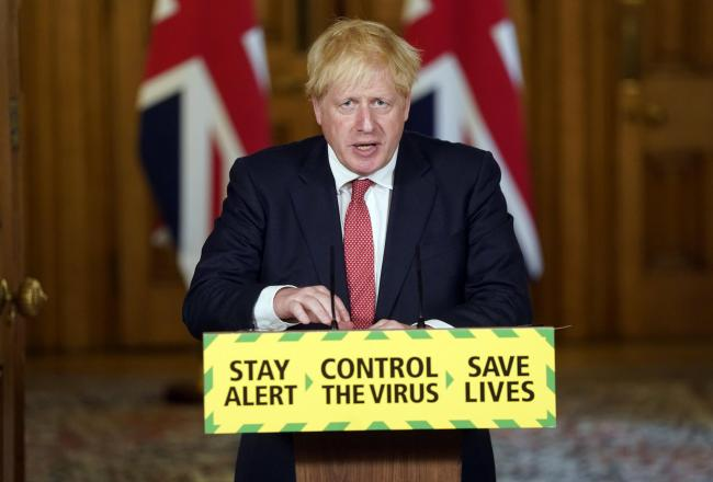 Boris Johnson made a statement today- picture from PA