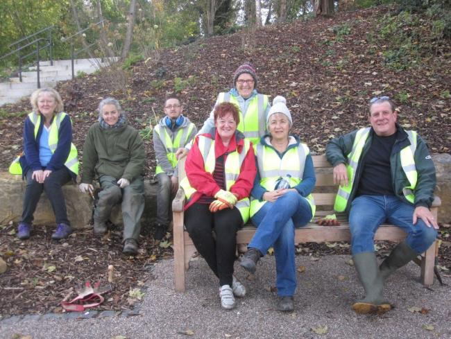 Friends of Winsford Town Park resume activity sessions with Jo Fawcett, second from left, designer of the town park's planting scheme