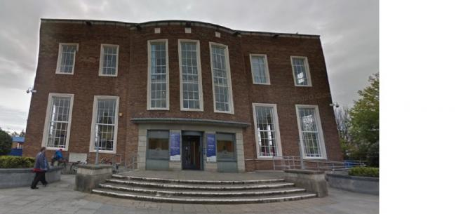 Ellesmere Port library, where the first centre will be opened. Image: Google Streetview