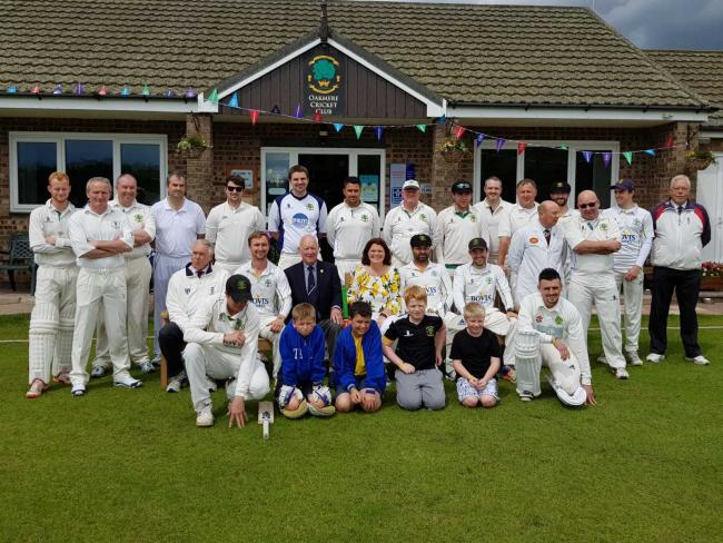 Oakmere Cricket Club, one of four charities to receive £250 from Jack's supermarket in Middlewich