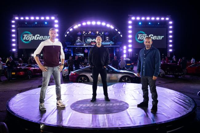 Top Gear hosts Freddie Flintoff, Paddy McGuinness and Chris Harris