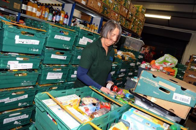 Volunteer Jo Rafferty at Mid Cheshire Foodbank warehouse in Winsford which is open for donations on Monday, Wednesday and Friday from 9am to 12 noon