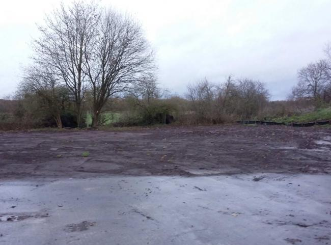 The site which would be used for 10 transit pitches