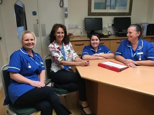 Dr Andrea Graham, director of clinical services, with nurses at St Luke's Hospice (Picture taken before Covid-19)