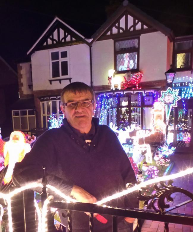 David Robinson wants to thank everyone for their generous support after visitors to his magical winter wonderland raised a record sum for St Luke's Hospice