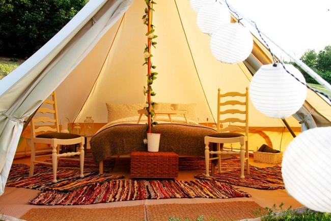 Cosy up  in this deluxe lakeside bell tent retreat, right here in Cheshire