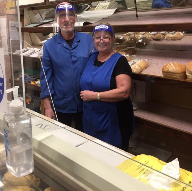 Mark and Mandy Daniel from Cynthia's Patisserie serves takeaway breakfasts to key workers during lockdown