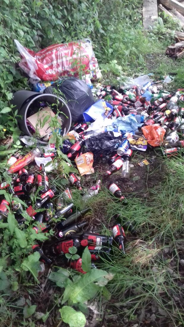 Winsford Guardian: The waste was dumped by the old Whitegate railway station.