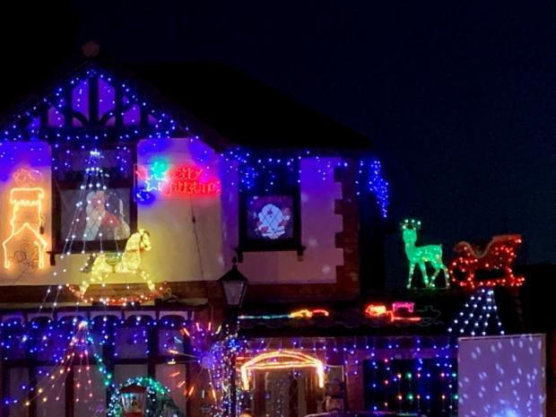 Winsford Guardian: David Robinson has been turning his garden into a glittering grotto for more than 30 years