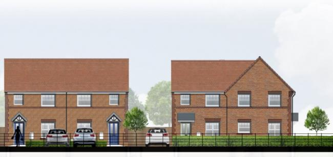 An artist's impression of how the site would look from Booth Lane. Image: Taylor Wimpey