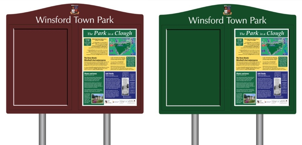 People are being asked which colour they would like the noticeboard to be - burgundy or green? Picture: John Malam
