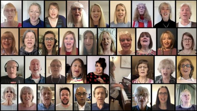 The Bostock Singers have been rehearsing via Zoom since lockdown last year.