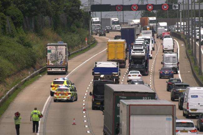 Lorry stopped on M25
