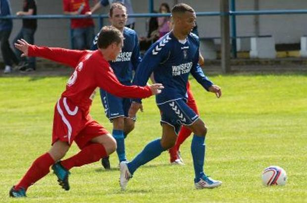 Brian Matthews scored a hat-trick for Winsford in Saturday's record league success.