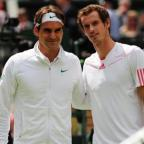 Roger Federer, left, said Andy Murray is 'one of the fittest guys out there'