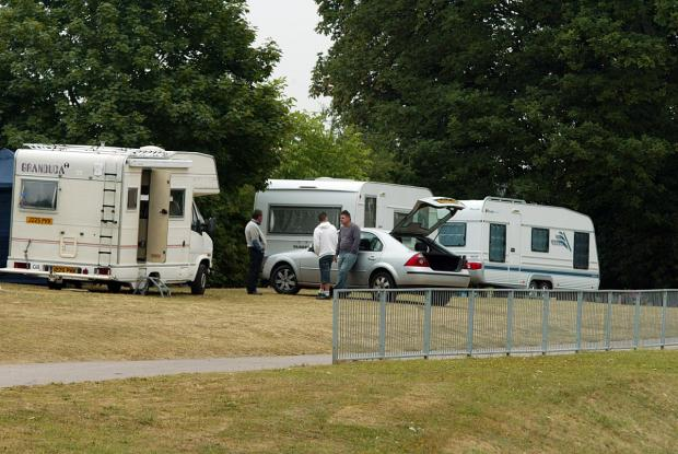 Caravans have now moved off the St John's Drive site