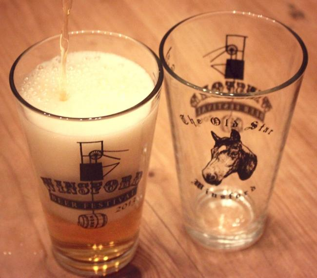 Class glass for Winsford Beer Festival 2013
