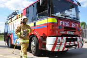 Firefighters deal with Winsford van blaze